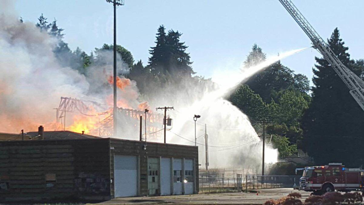 Timeline of Civic Stadium fire