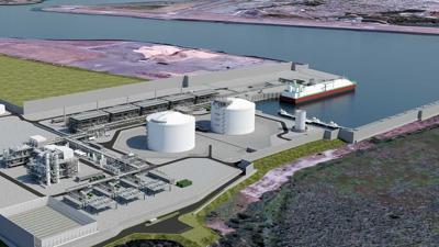 Jordan Cove LNG Pipeline rendring courtest