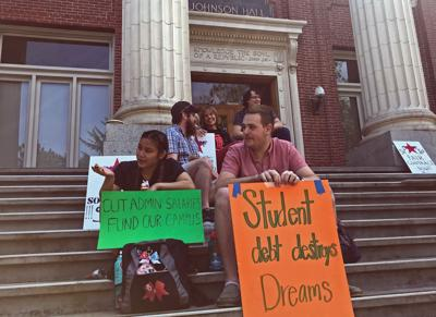 GTFF holds a sit-in at Johnson Hall on May 31, 2019