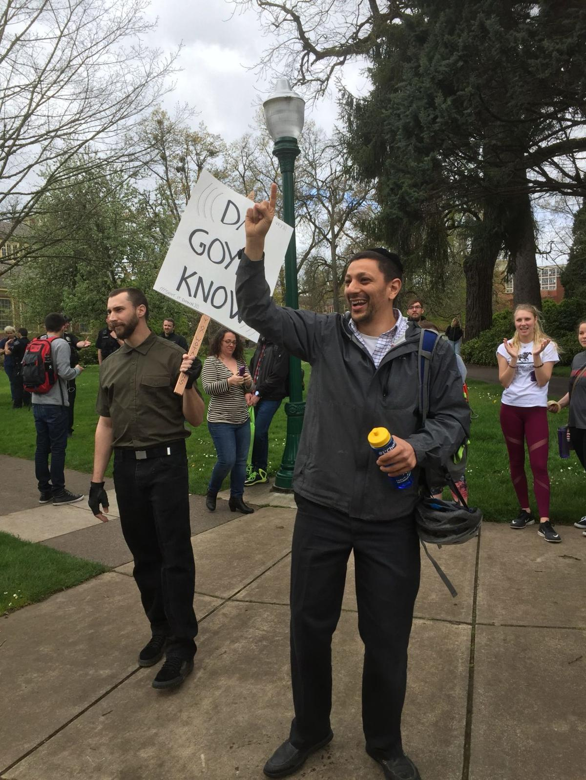 White nationalists visit UO; don't find any support
