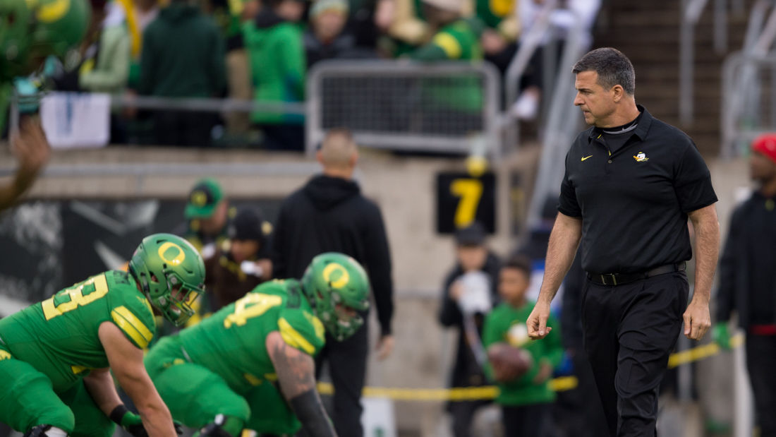 Photos: The Oregon Ducks prepare to play the Oregon State Beavers in the 121st Civil War