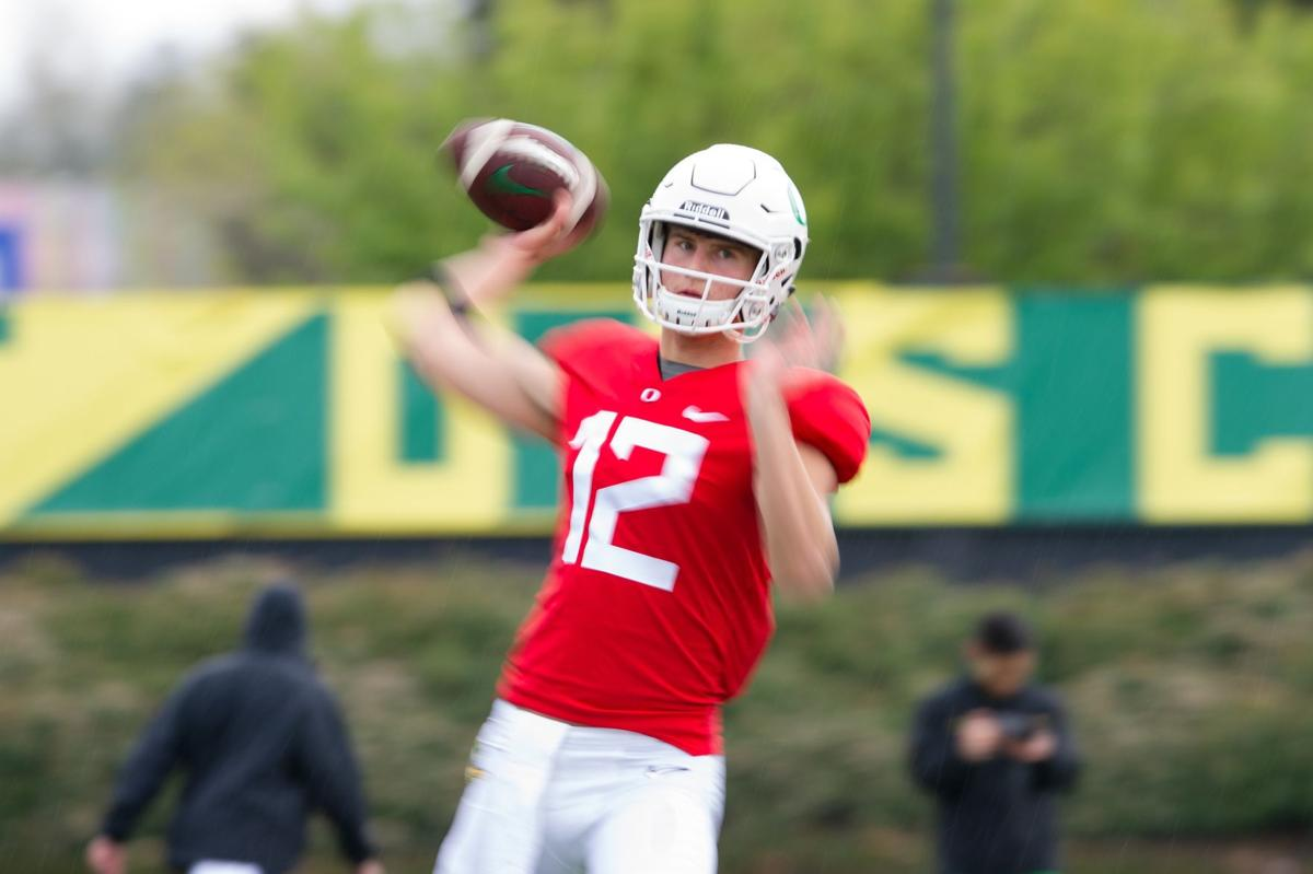 Tyler Shough stayed committed to the Ducks, now he's battling for key backup quarterback position