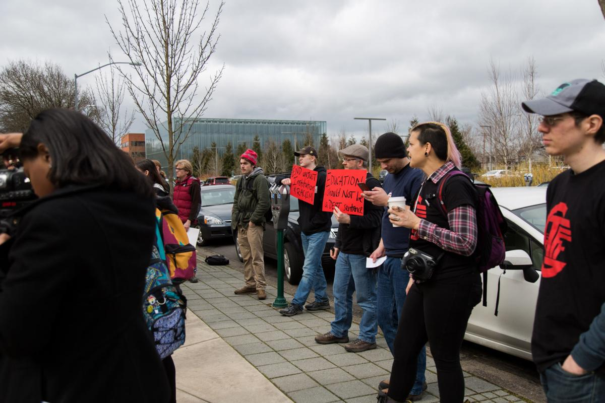 Photos: Students, Staff and Faculty protest before the Board of Trustees meeting on tuition increase