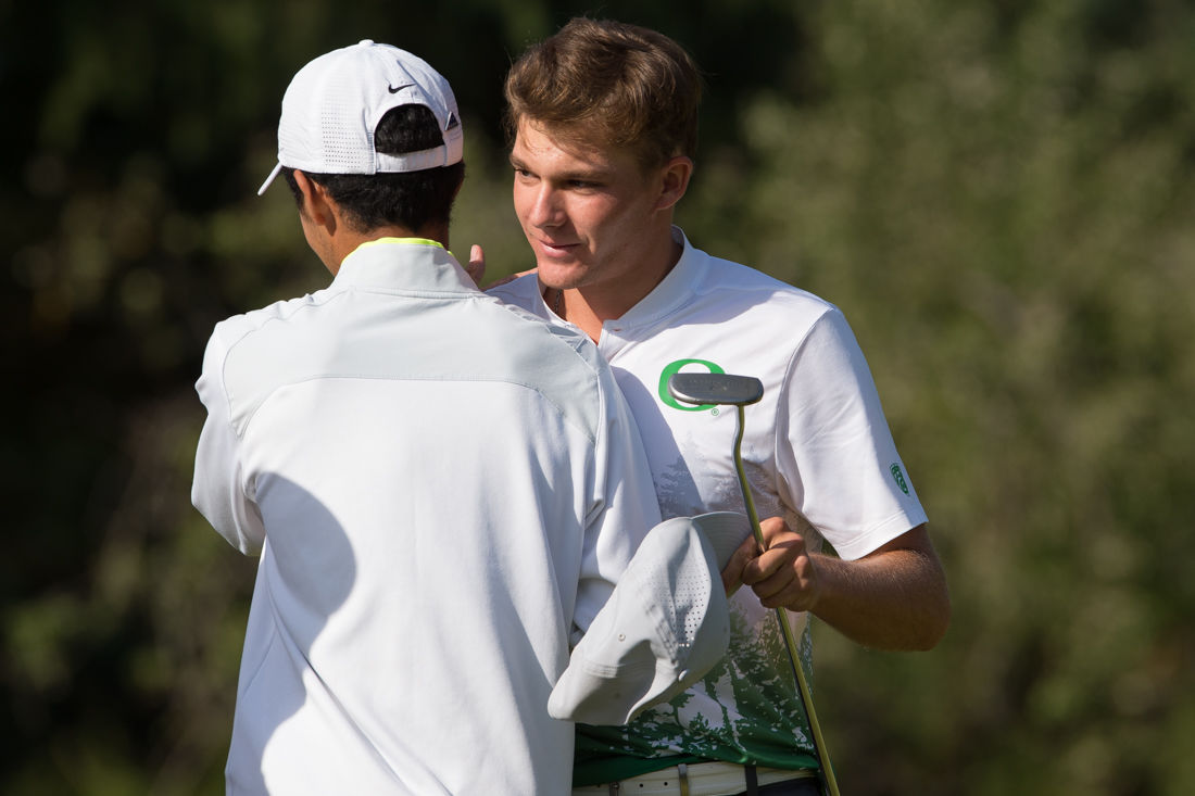 Photos: The Oregon Ducks play in the fourth round of the NCAA Championships, Aaron Wise wins individual championship