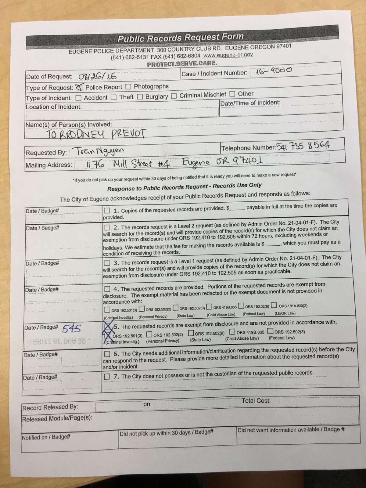 Oregon linebacker Torrodney Prevot under investigation for criminal offense, Prevot suspended