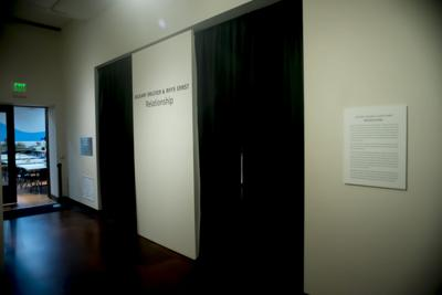 New JSMA exhibit covered by black curtains after being displayed for two days