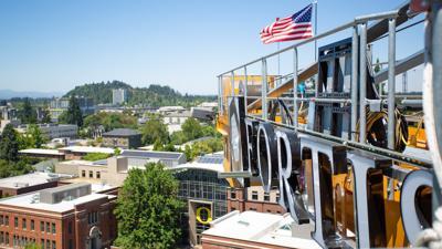 Meet UO's campus crane operator