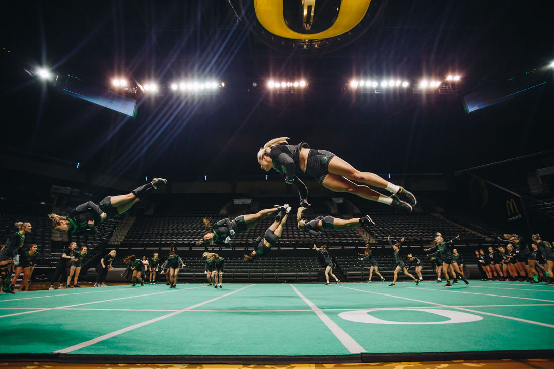 Photos: Ducks Acrobatics and Tumbling falls to Baylor in rematch for final home meet