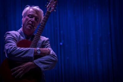 Review: David Byrne dances through new music, Talking Heads' classics in Portland