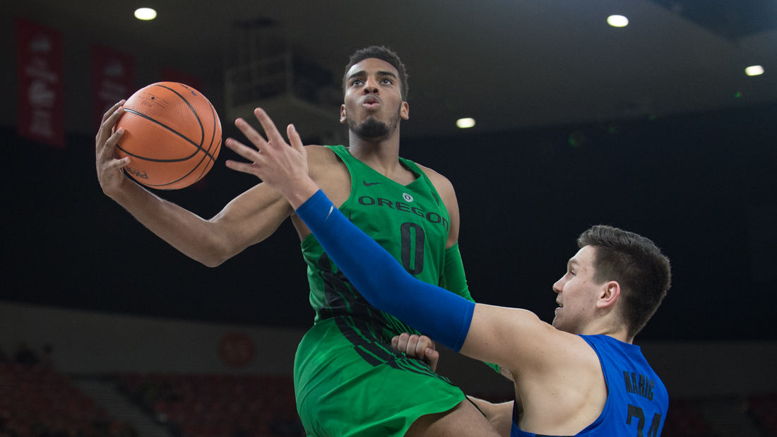 Photos: The Oregon Ducks defeat the DePaul Blue Demons 89-79 in overtime at the Phil Knight Invitational tournament