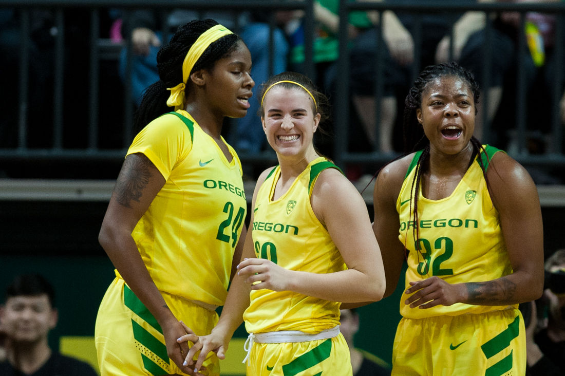 Photos: Ducks women's basketball hangs onto close lead for a 77-71 victory over the Sun Devils