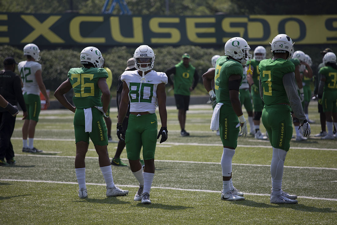 With Carrington gone, it's next man up for Oregon's young receivers