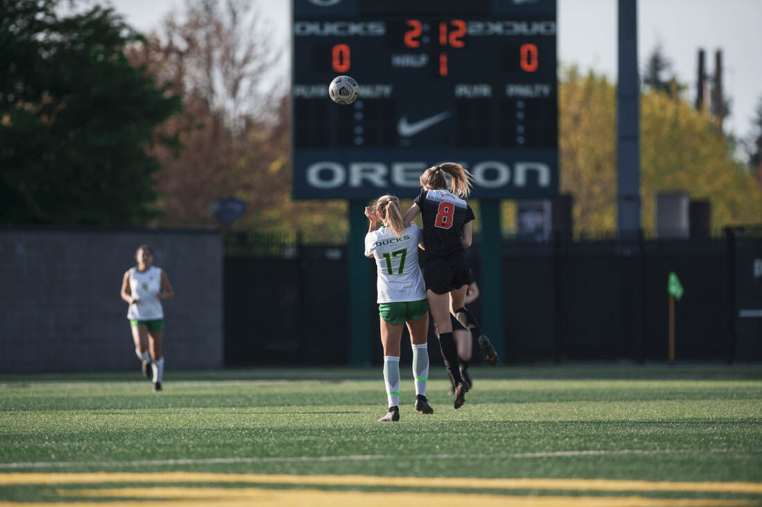 Oregon soccer earns first winning season in 14 years with win over Oregon State