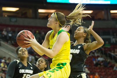 Oregon women's basketball demolishes Colorado in 84-47 blowout at Pac-12 Tournament