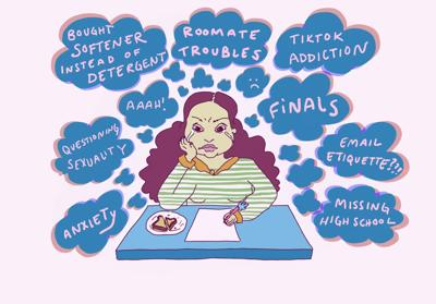 Freshmen Mental Health Resources Illustration