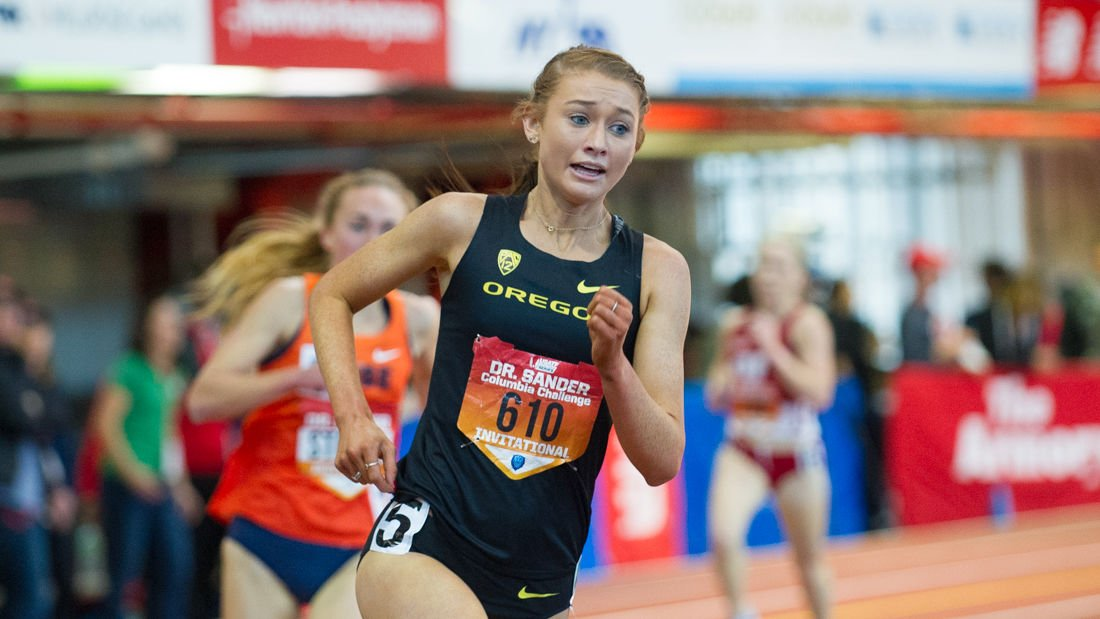 Photos: Oregon Track competes at the Columbia Challenge in New York City