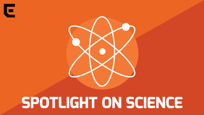 Spotlight on Science horizontal podcast graphic