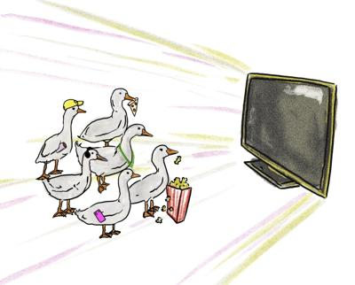 Ducks After Dark Illustration