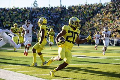 Oregon's running back touches are still up for grabs