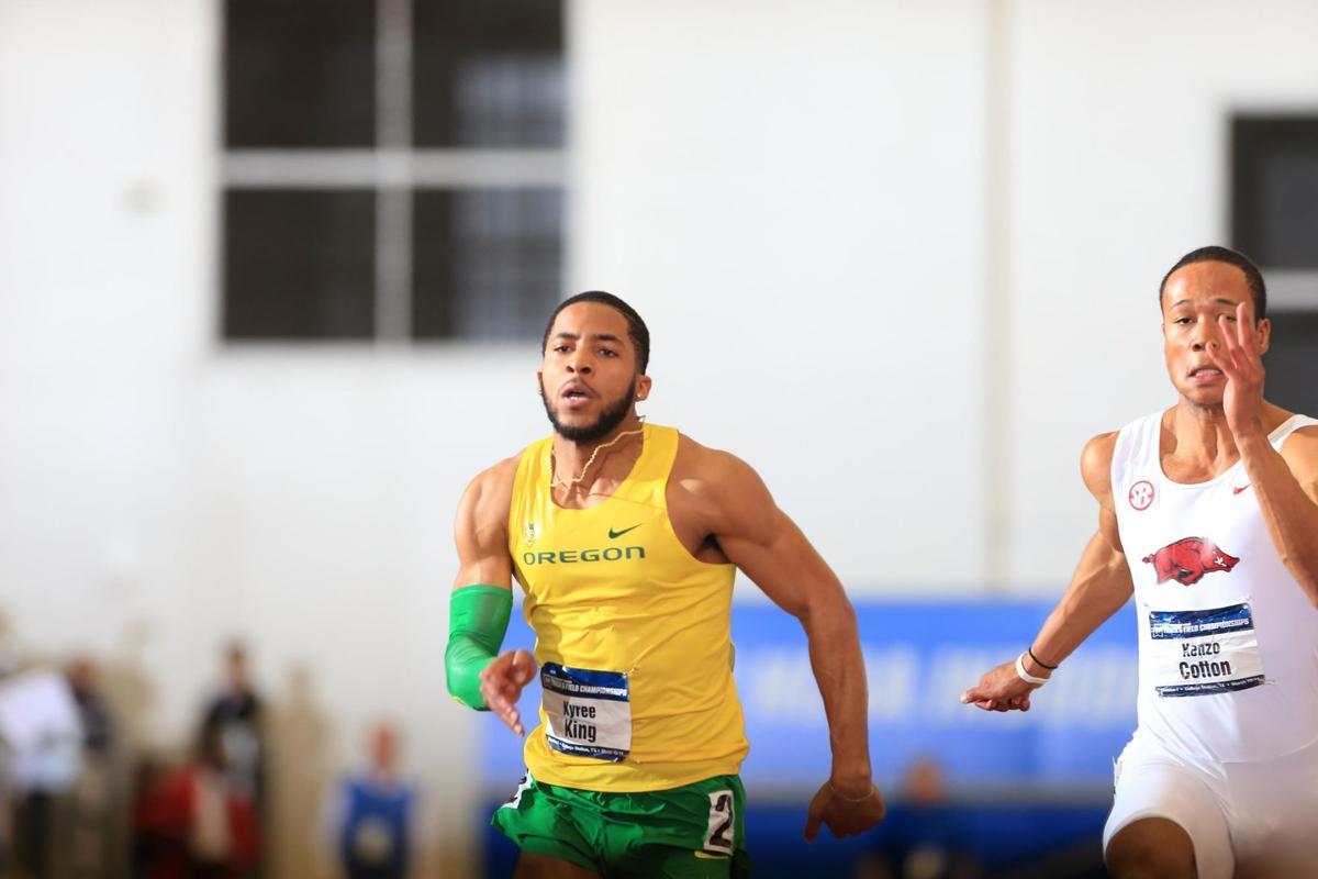 Kyree King provides veteran leadership among young Oregon sprinters