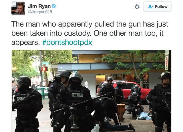 Police arrest man for pulling out gun at Black Lives Matter protest in Portland