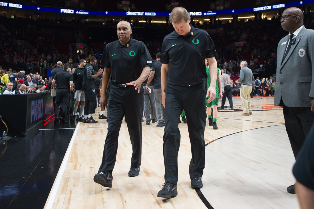 Photos: The Oregon Ducks fall to the Connecticut Huskies 71-63 in the first round of the Phil Knight Invitational