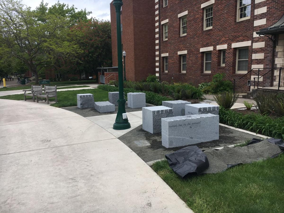 """New """"Aggregation"""" art piece installed at EMU as part of public art budget"""