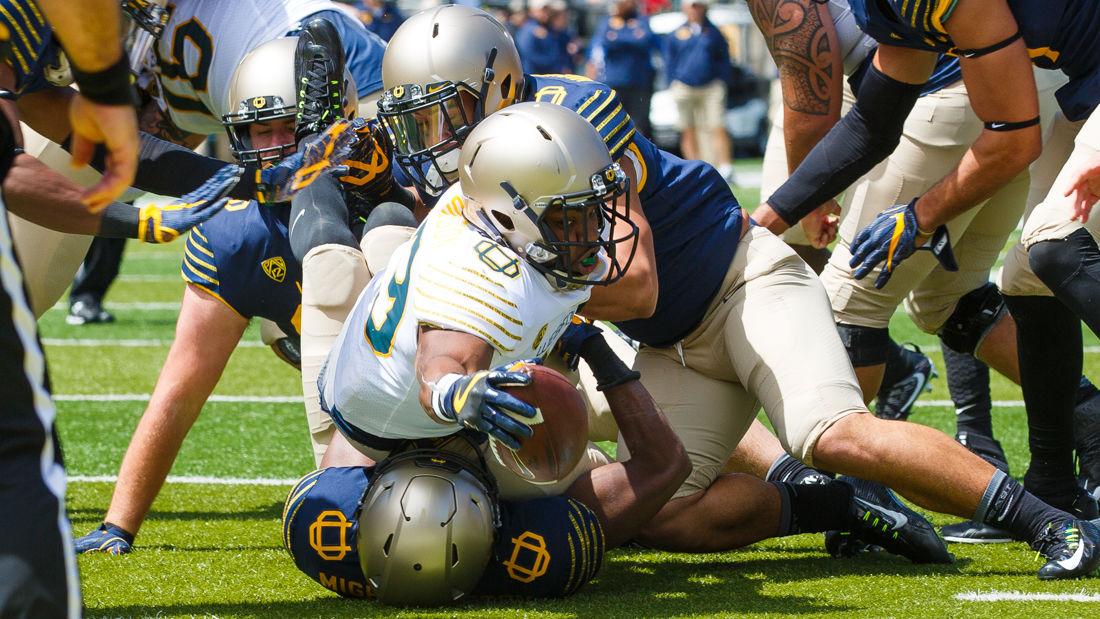 Photos: Football spring game — Mighty Oregon edges the Webfoots 21-20