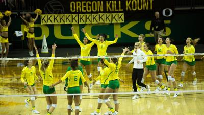 No. 20 Oregon volleyball flexes its depth in sweep of No. 10 Washington State