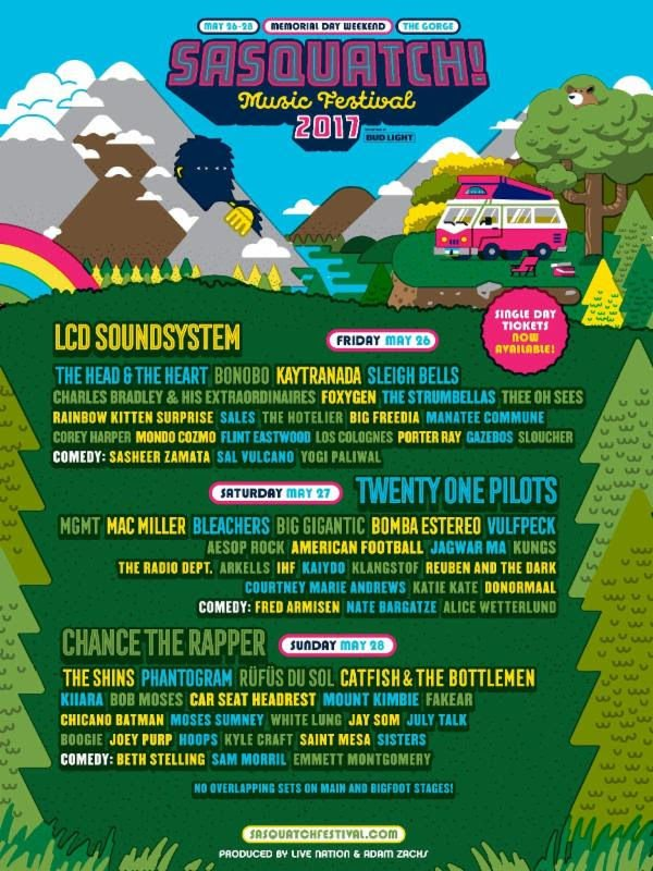 Sasquatch! announces LCD Soundsystem to replace Frank Ocean as headliner three weeks before festival