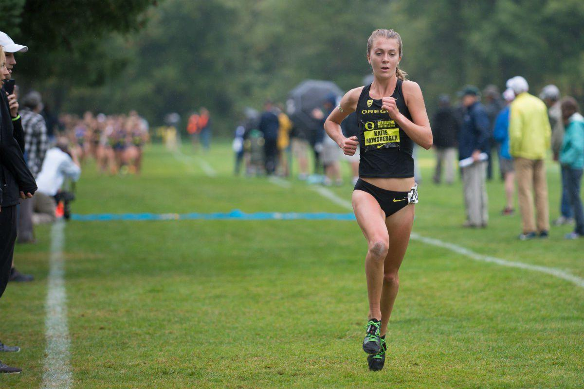 Racing Ahead: Sophomore distance runner Katie Rainsberger leads the way for Oregon cross-country