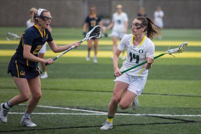Oregon lacrosse takes down Winthrop 18-5