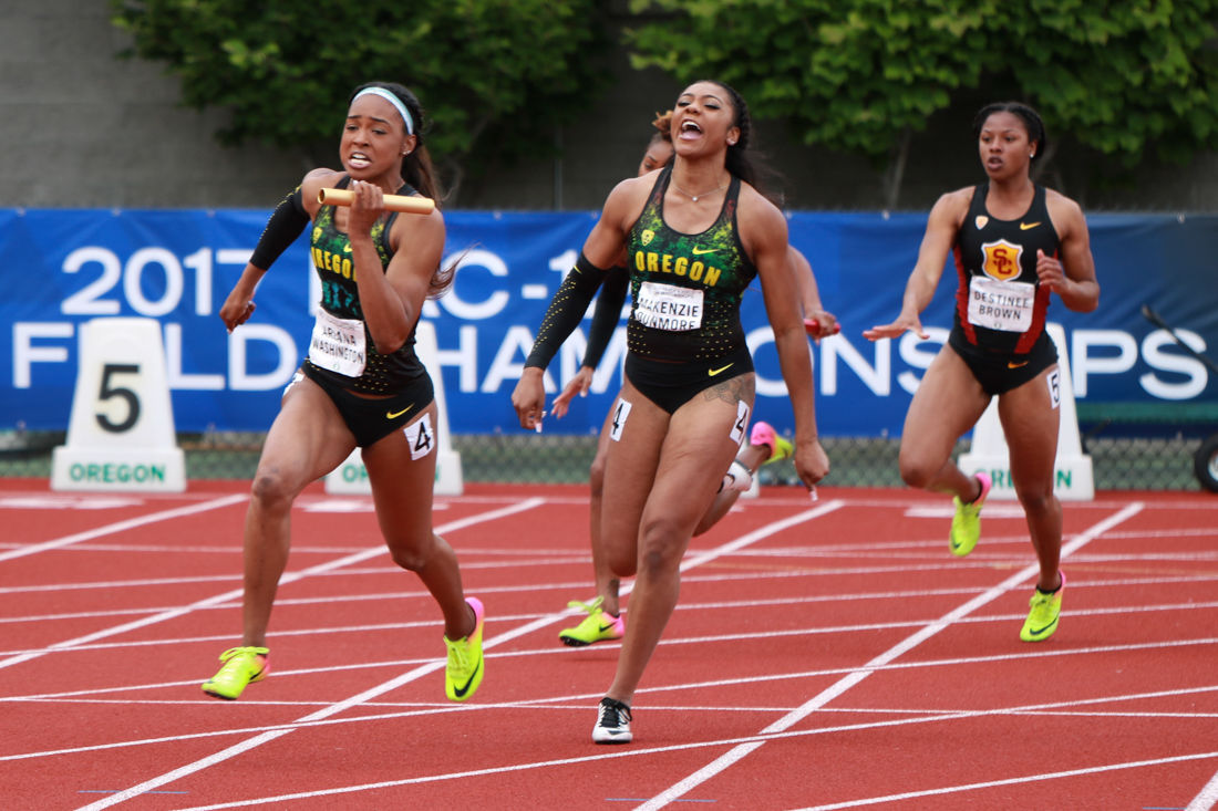 It was the goal, but the women's 4×100-meter NCAA title eludes Oregon again
