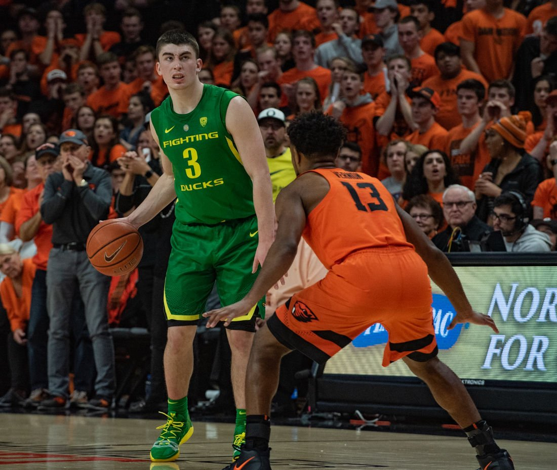 Photos: Ducks Mens Basketball falls short to Oregon State as Beavers pull away in second half