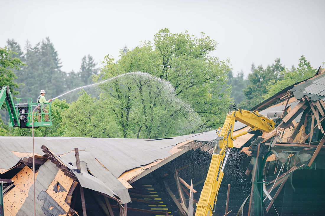 Photos: Hayward Field project preparations and destruction of East Grandstand