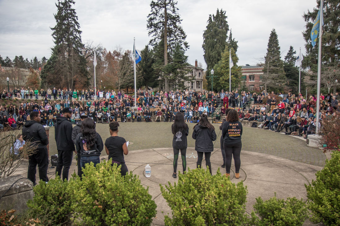 Photos: Black Student Groups Hold Community Rally