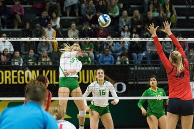 Oregon volleyball loses at home in four-set defeat to Utah