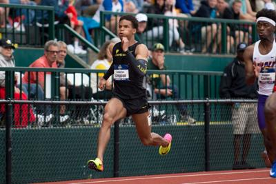 Damarcus Simpson continues to leave a lasting impression on Oregon track and field