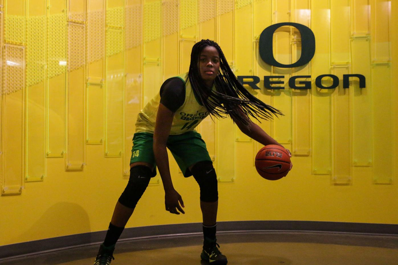 Oregon's Jillian Alleyne grew from childhood experiences to become conference standout