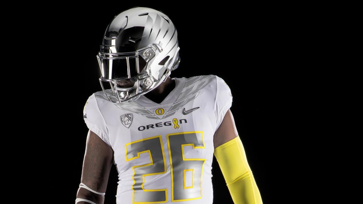 info for 5307c c3deb Oregon's uniform against Nebraska takes on special cause ...