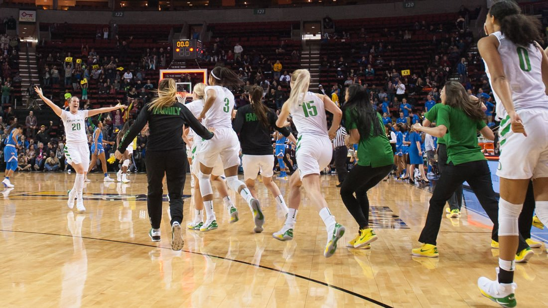 Photos: The Oregon Ducks hold on to defeat the UCLA Bruins 65-62 in the semifinals of the Pac-12 tournament