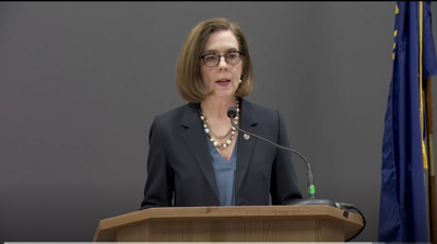 """Kate Brown, """"stay home, stay healthy"""""""