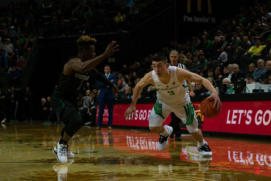 Oregon men's basketball beats Portland State 84-57