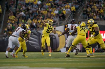 Oregon offense shifts focus to Portland State after opening win over Bowling Green