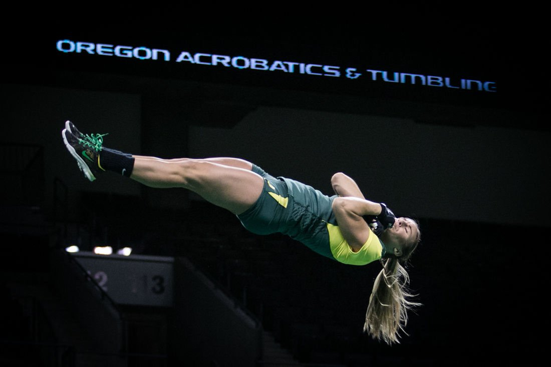 Photos: Oregon Acrobatics and Tumbling defeats King University and Adrian College with a score of 282.97