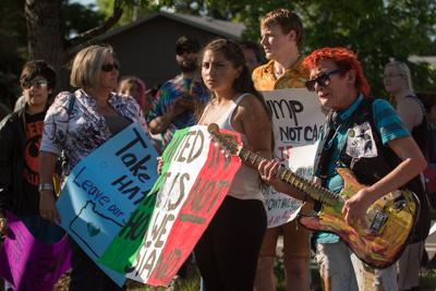 Donald Trump's rally and protests in Eugene, as told by social media