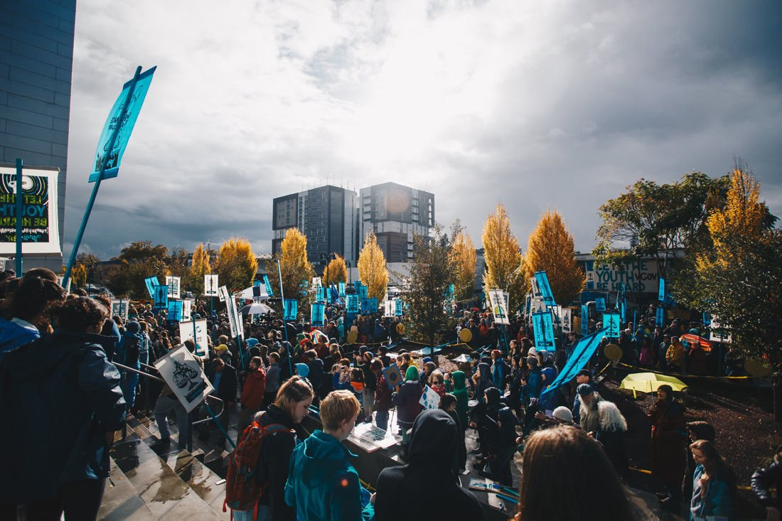 Photos: Hundreds attend the Eugene rally for Juliana v. United States climate change lawsuit