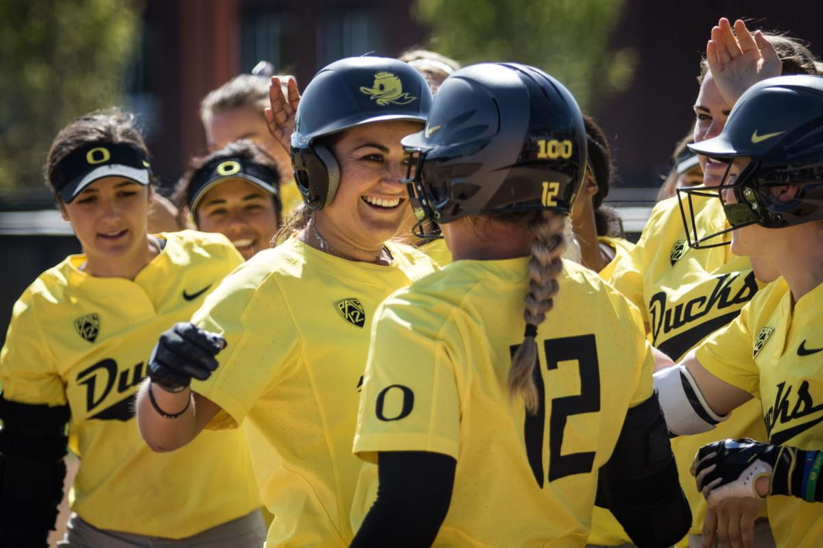 Photos: No. 6 Oregon completes sweep vs. Oregon State 9-0