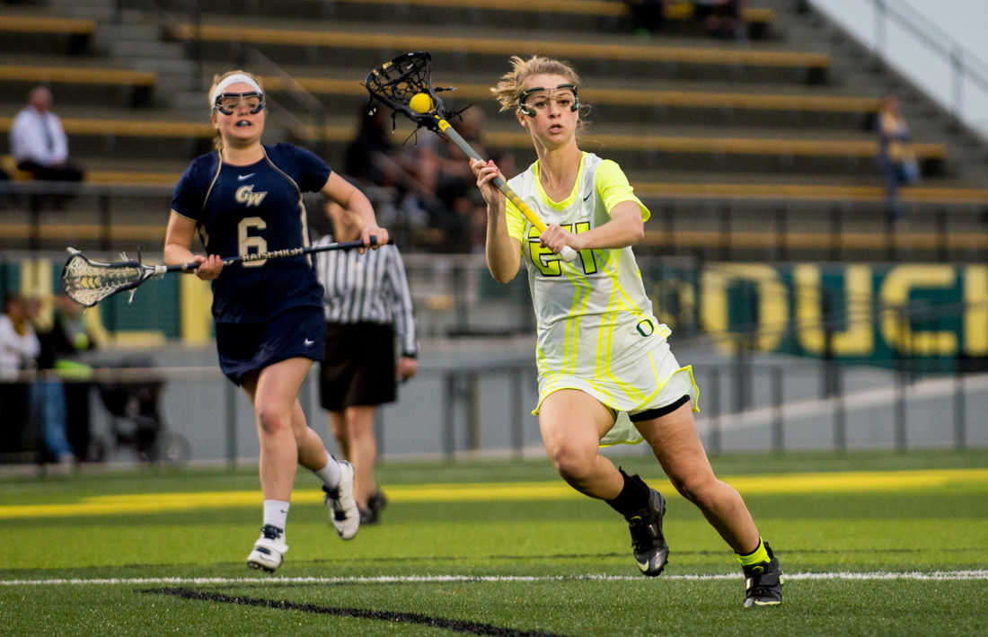 Photos: Oregon lacrosse topples George Washington 8-6