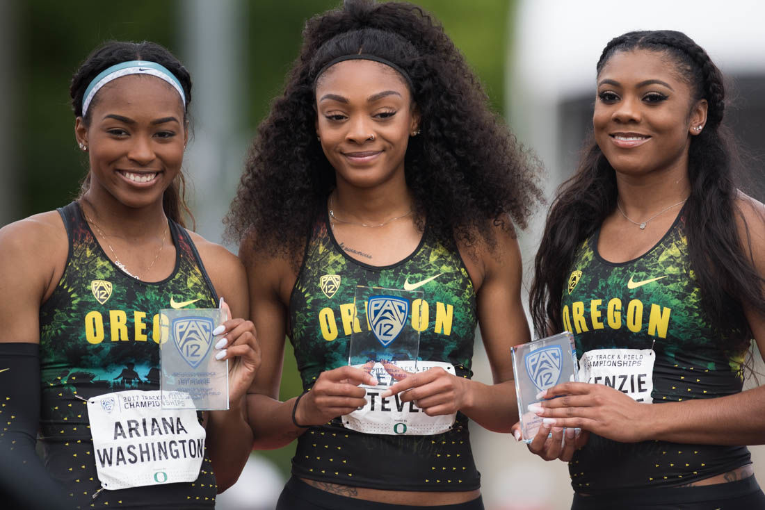 Oregon sprinters dominate Pac-12 Championships